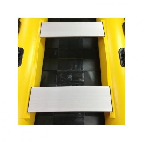 Neumática Aquaparx amarilla RIB 280 MKII PRO con suelo de tablillas