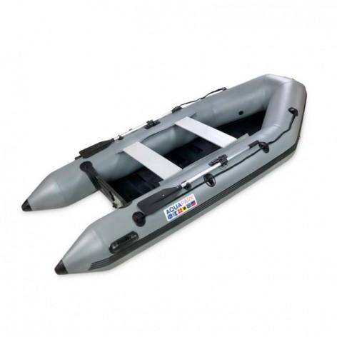 Barcos infláveis Aquaparx RIB 280 MKII PRO CINZA com piso de RIPAS de madeira