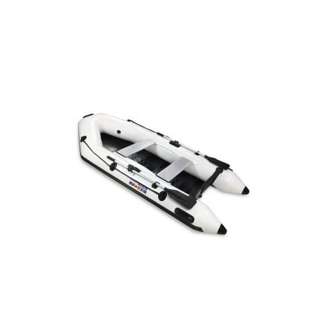 Barcos infláveis Aquaparx RIB 280 MKII PRO branco com piso de RIPAS de madeira