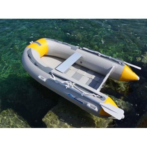 Barca Pneumatica Viamare 270 S bianca con Pavimento di Stecche di Legno